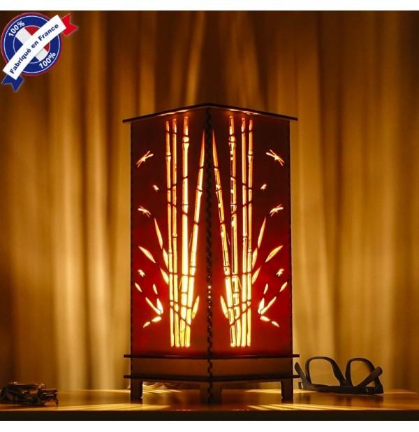Lampe Bois Bambou Lumiere D Ambiance Luminaire Decoratif