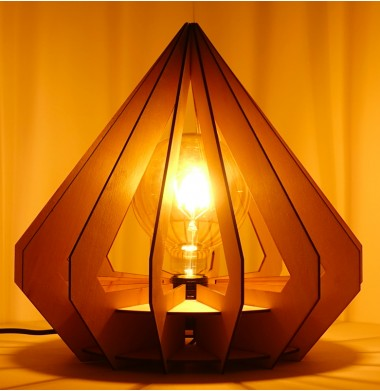 Luminaire Diamant en bois
