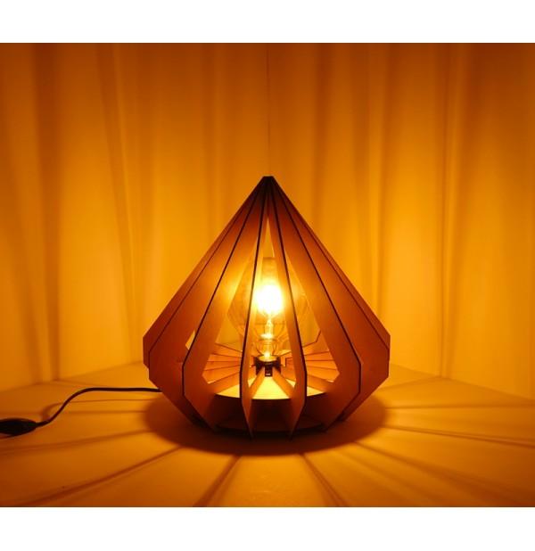 Lampe bois Diamant