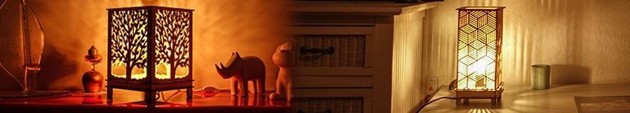 Lampes Bois à poser